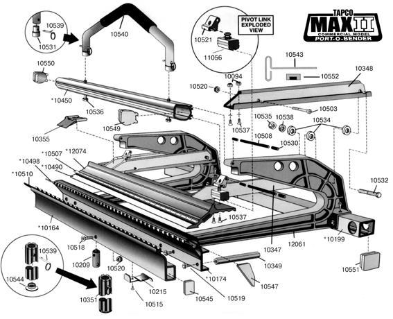 Схема ручного листогиба Tapco